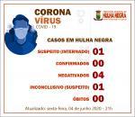 Hulha Negra registra dois casos suspeitos de coronavírus