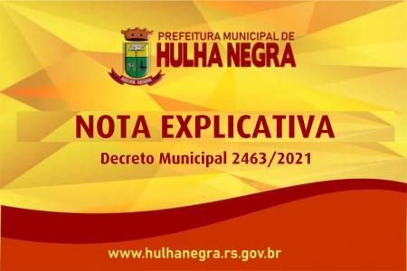 Prefeitura emite novo Decreto em relação as medidas adotadas pelo Decreto Estadual 55 771