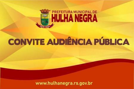 Prefeitura de Hulha Negra convida para Audiência Pública